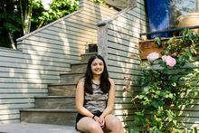 Alexa Bailey poses for a photograph in the yard of her home in Vancouver, B.C. on June 28, 2021. Jackie Dives / The Globe and Mail