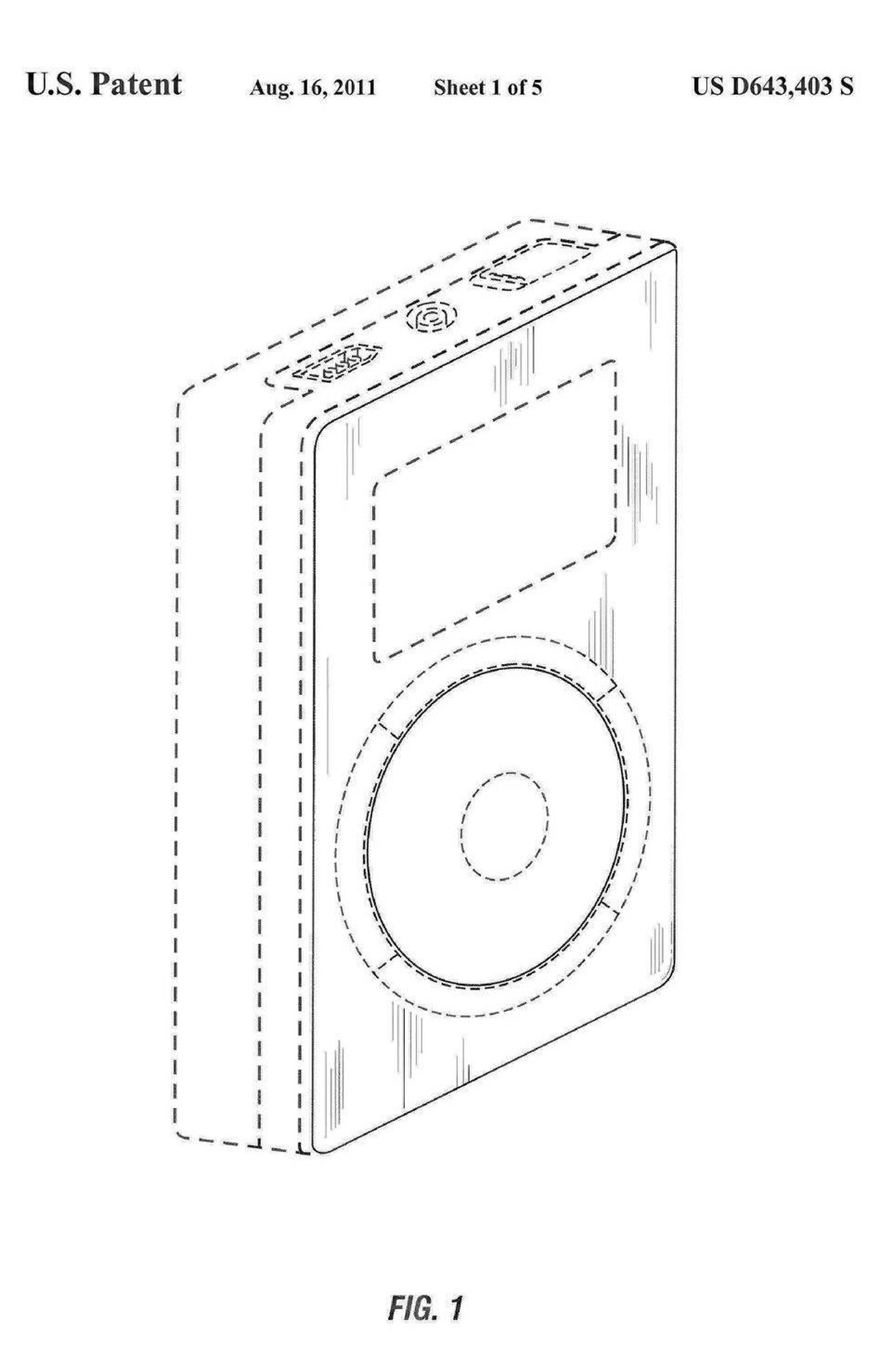 """Steve Jobs's name appears on 85 iPod and iPod-related patents. Apple introduced these """"media players"""" in 2001 with a chunky box, and the patent for its """"ornamental design"""" appears here."""