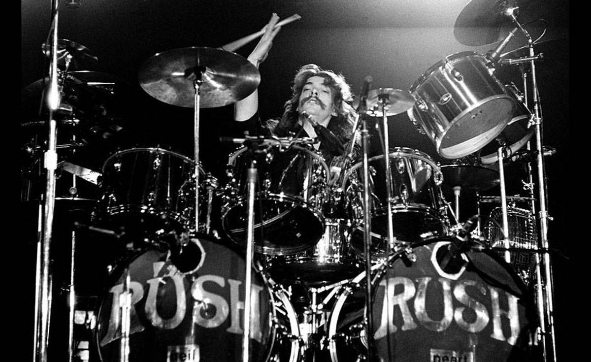 Drummer Neil Peart in an image from the documentary Rush: Beyond the Lighted Stage.