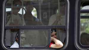 TTC riders in a hot streetcar in Toronto. Fernando Morales/The Globe and Mail