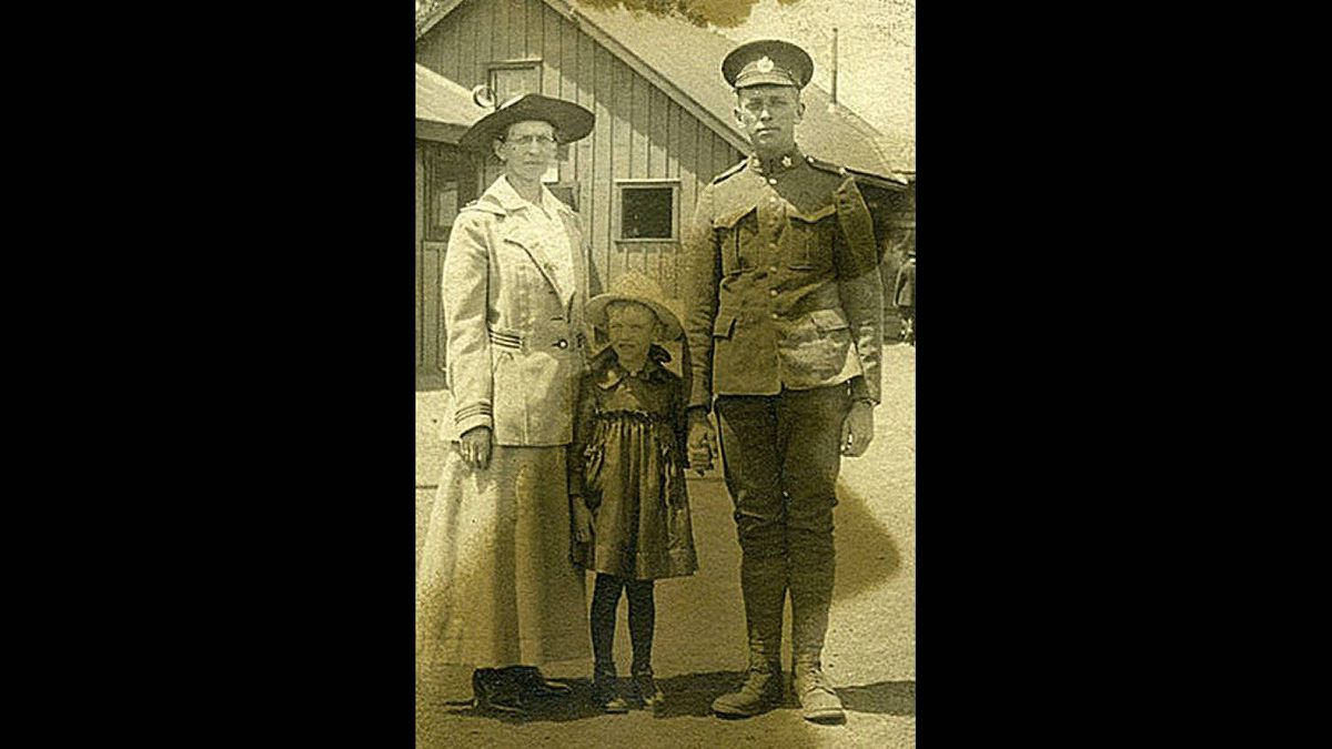 Donald Stewart Maynard, a Sapper in the 7th Battalion, Canadian Engineers, is pictured here in an assembly camp prior to shipping out to England. Maynard was killed on October 25, 1918, two weeks before Amistice, and buried in France.