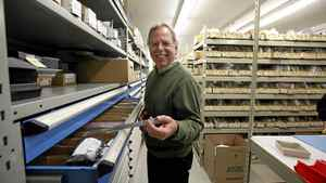 Jim Lotimer, CEO of Lotek Wireless, Fish and Wildlife Monitoring, with some of his company's products in the company's lab and production floor in Newmarket, Ont.