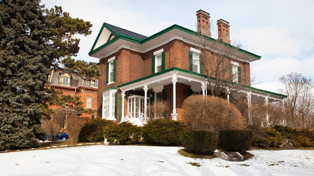 The Port Hope, Ont. home of Carl Swanston and Sarah Cashman, an 1858 Regency Villa style house they will slowly restore.