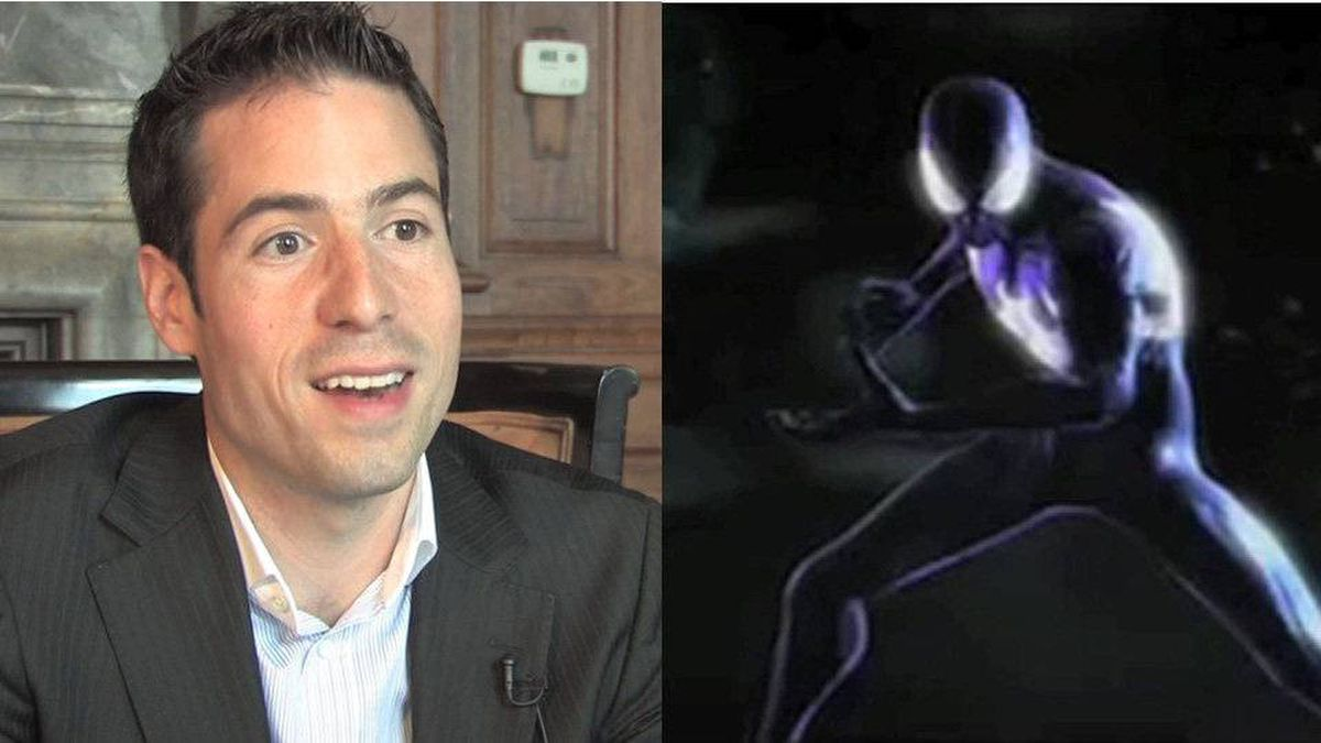 Dominique Brown, founder of video game company Beenox, based in Quebec City, and one of his company's creations.