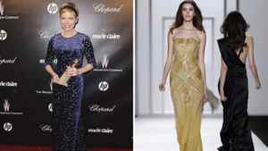 Michelle Williams in J. Mendel Hi, Michelle. Remember when you wore that stunning mustard-coloured gown to the 2006 Golden Globes? Can you try that again, please?