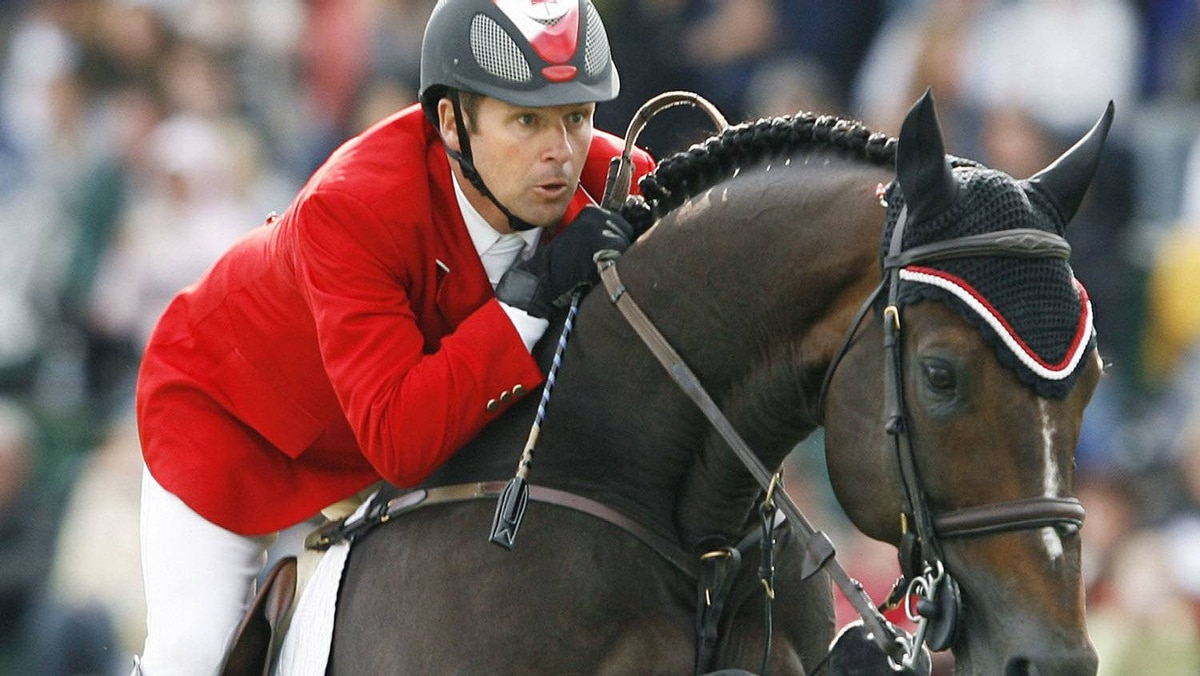 Olympic gold medalist Eric Lamaze of Canada will be an important part of Canada's medal hopes at the 2012 London Olympic Games. REUTERS/Todd Korol