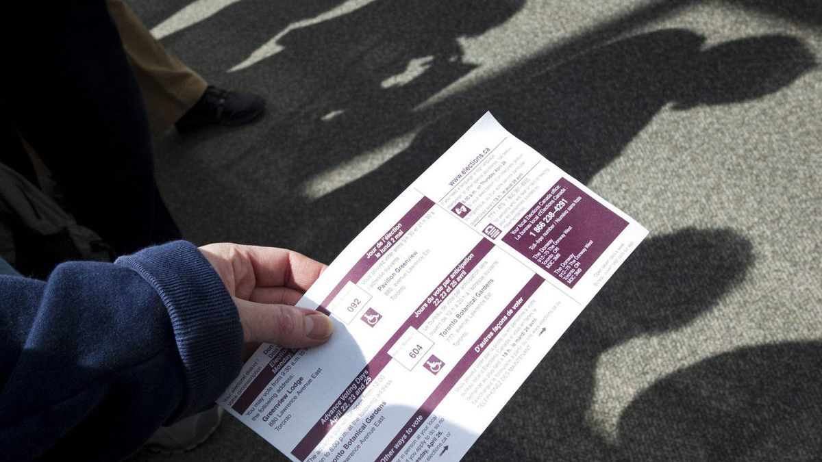 Voters queue in Toronto on Friday, April 22, 2011 to cast advance ballots for the forthcoming Federal Election.