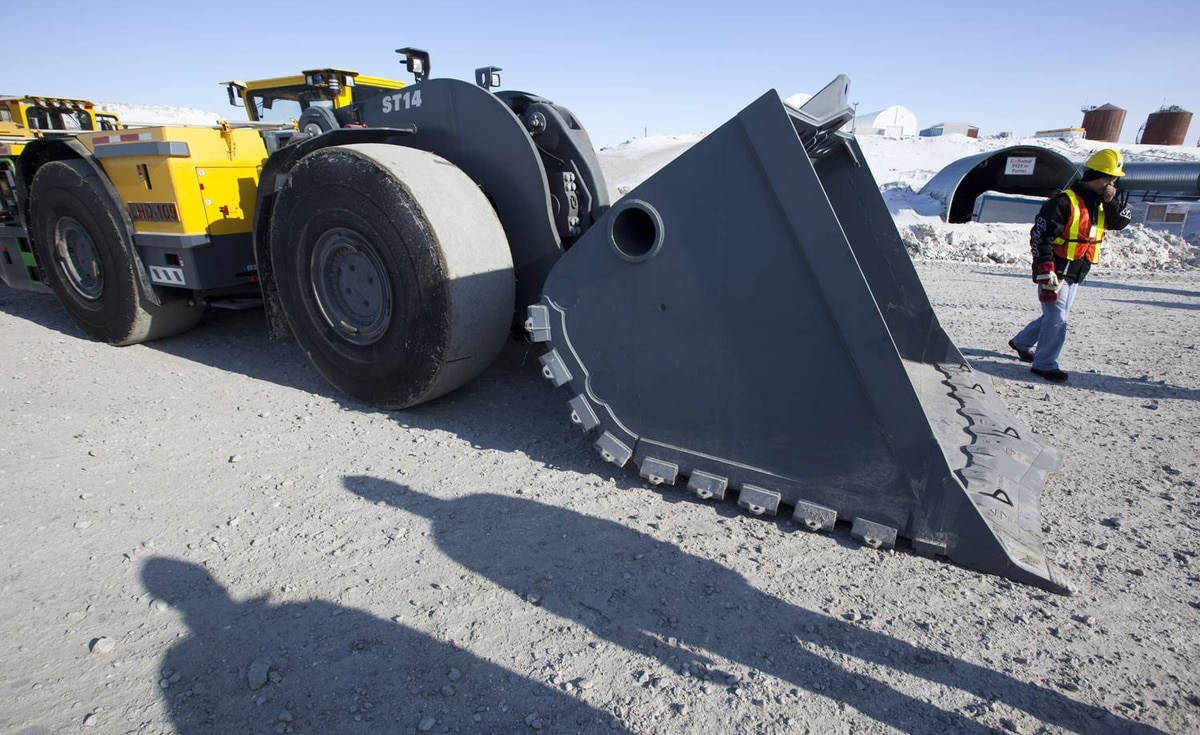 A mine scooper which can be converted to be used remotely at the Diavik diamond mine in the North West Territories.