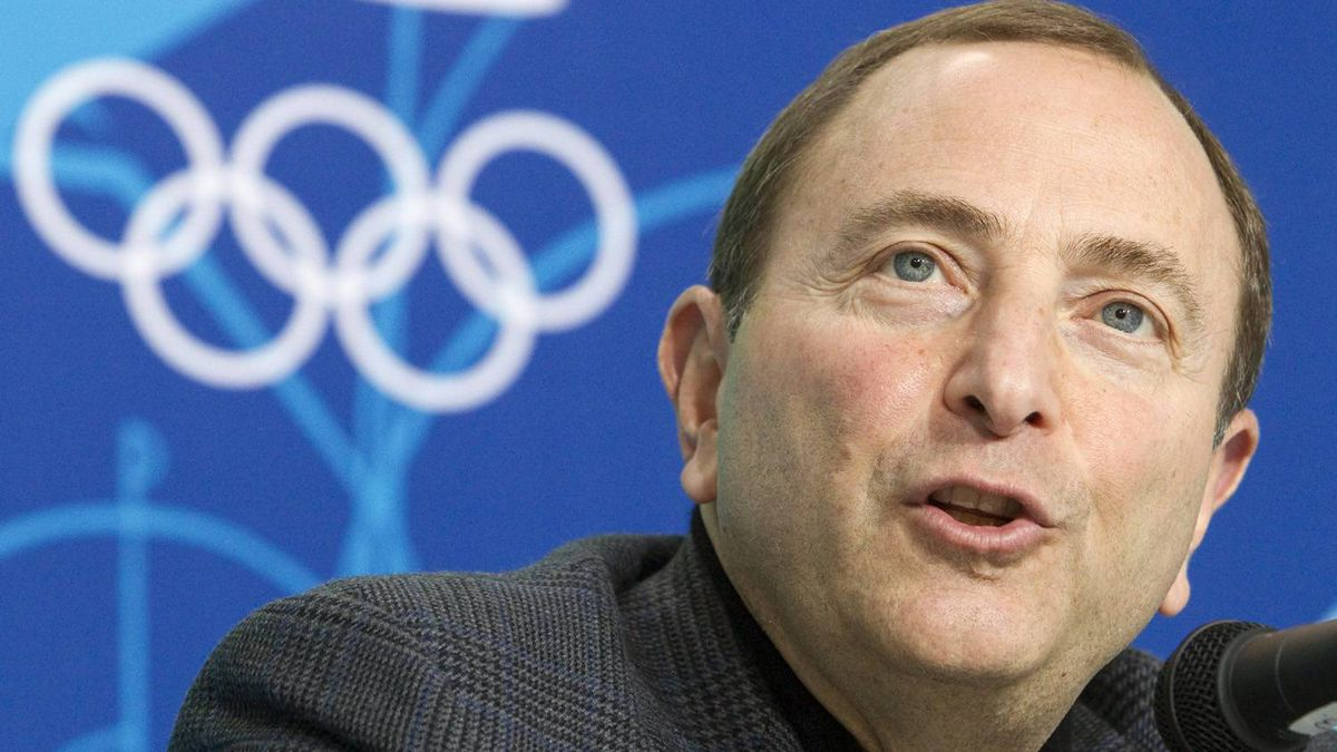 """NHL commissioner Gary Bettman speaks to reporters at a news conference Thursday, Feb. 18, 2010 at the 2010 Winter Olympic Games in Vancouver. The NHL gave itself a pat on the back Monday in the wake of a thrilling Olympic overtime final.""""The 2010 Olympic Winter Games in Vancouver served as the latest affirmation that the quality of our play and our players is the finest in the world,"""" Bettman said in a statement."""