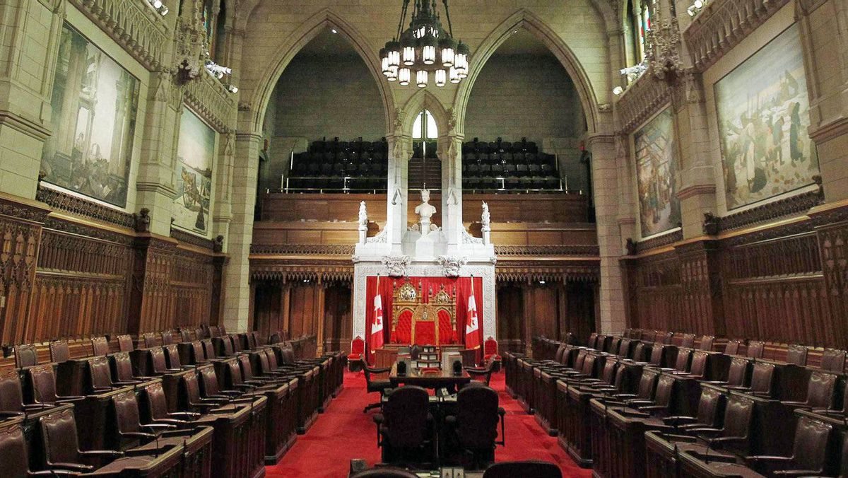 The Senate chamber sits empty ahead of the return of Parliament on Sept. 16, 2010.