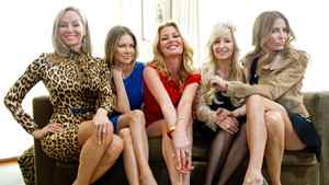 The Real Housewives of Vancouver pose for a photograph in the penthouse at the Loden Hotel in Vancouver.