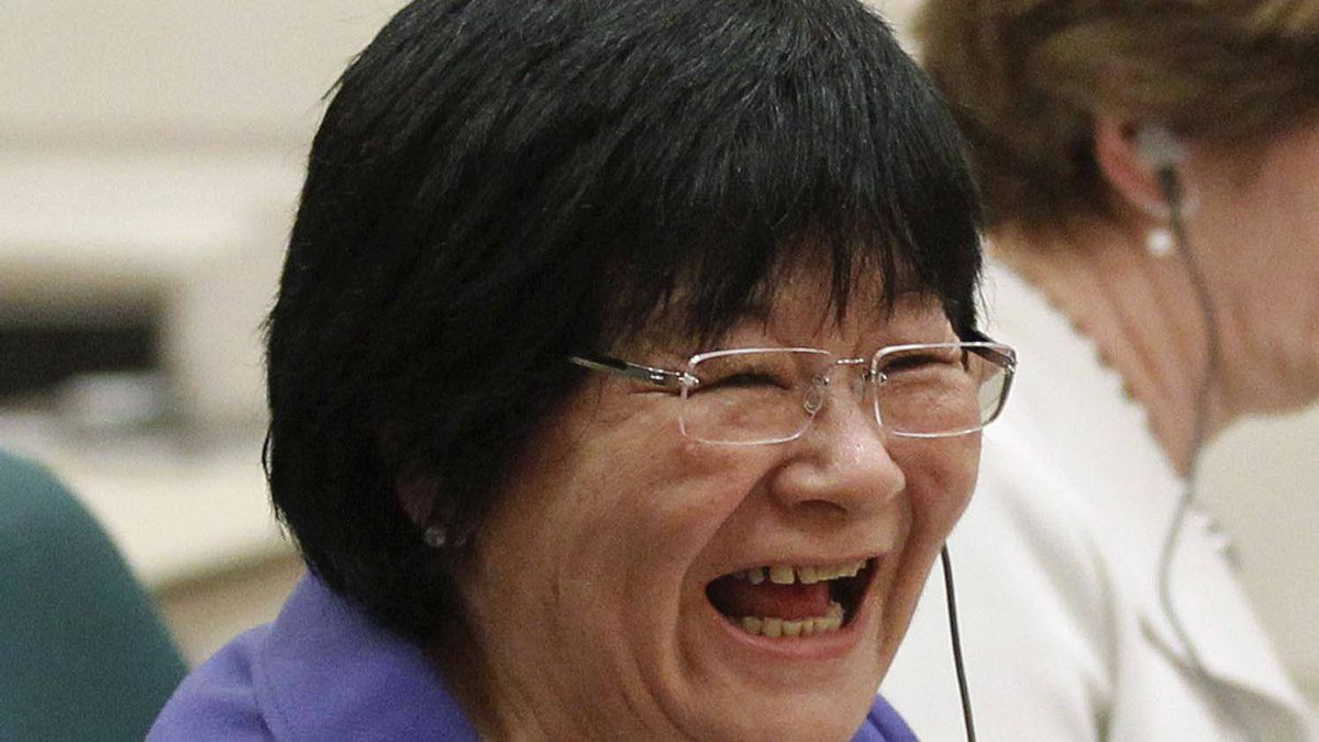 Canada's International Cooperation Minister Bev Oda waits to testify before the Commons Procedure and House Affairs committee on Parliament Hill in Ottawa March 18, 2011.