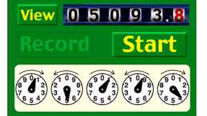 MeterRead is an app for iPhone or iPod Touch. Rather than requiring you to interpret old-style meters with multiple dials, it displays matching dials that you set to match your meter.