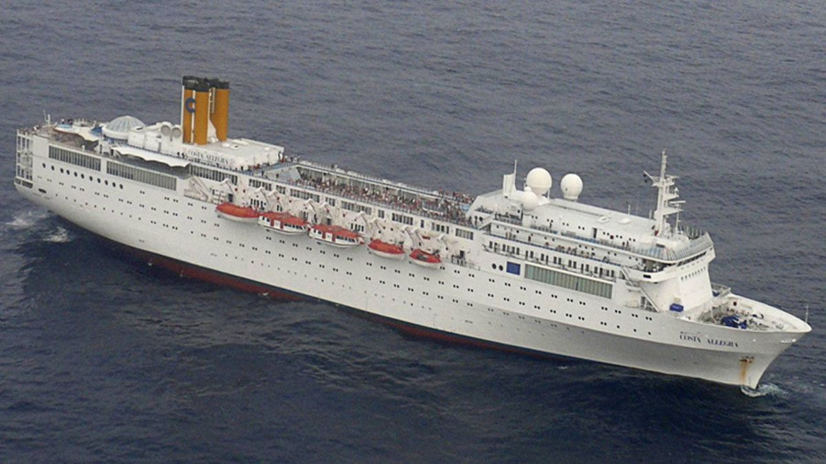 The cruise liner Costa Allegra is seen drifting in the Indian Ocean on Feb. 27, 2012, after an engine room fire.