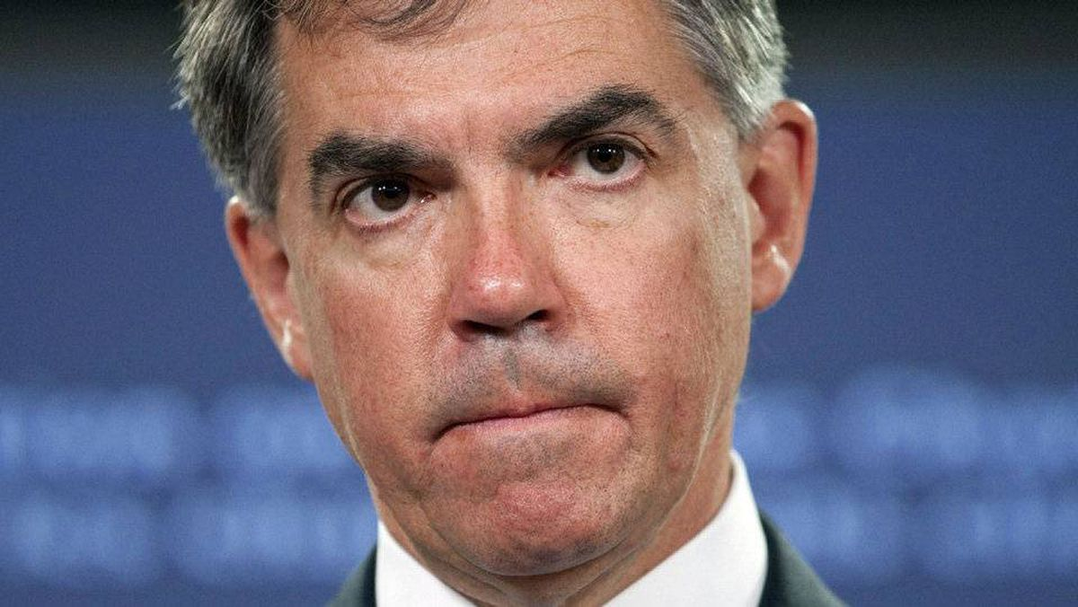 Environment Minister Jim Prentice at a press conference in Ottawa on Wed., June 23.
