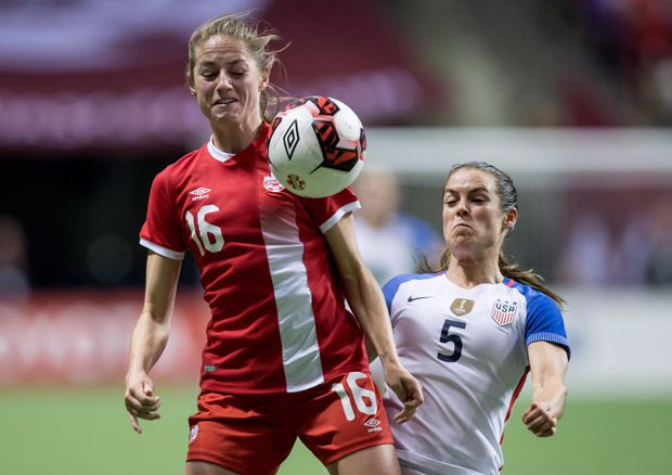 Janine Beckie ready to face Manchester City teammates in Canada-England friendly
