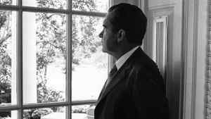 President Richard Nixon looks through a window at the White House Sept. 24, 1970 in Wshington, D.C. In 1971 Mr. Nixon announced the U.S. would be abandoning the gold standard.