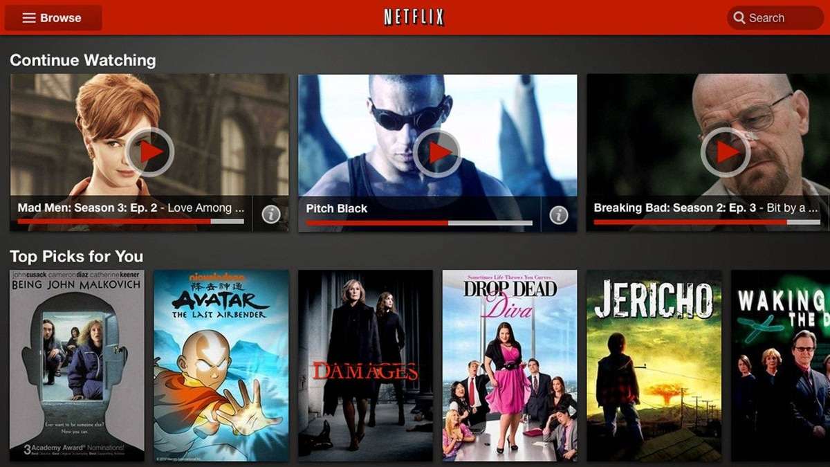 Netflix By now you've seen the ads: Netflix Canada offers video on demand, streamed over the internet, for about eight bucks per month. As its catalog of movies and TV shows grows, the question is not so much whether to get Netflix but how best to access the service. Android's free Netflix app lets you search the Netflix library, then touch the screen to start watching instantly, whenever and wherever you are. (App is free, but Netflix account needed to watch, www.netflix.ca/)
