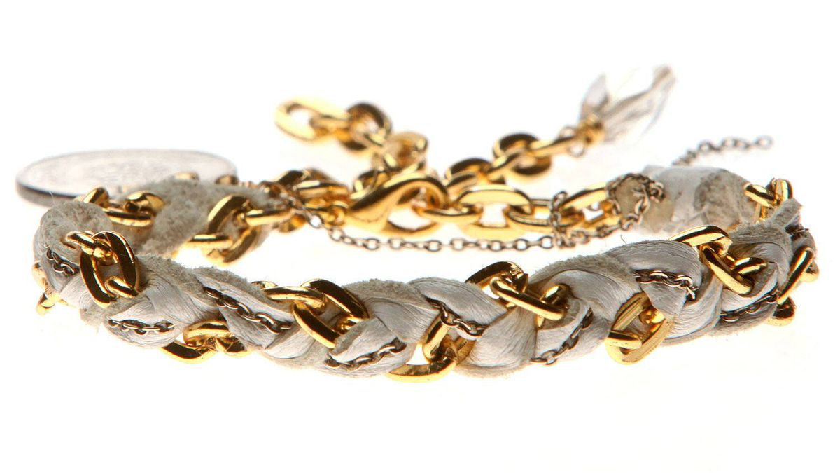 Toodlebunny chain-link bracelet, $95 at Love of Mine (www.loveofmineboutique.com).
