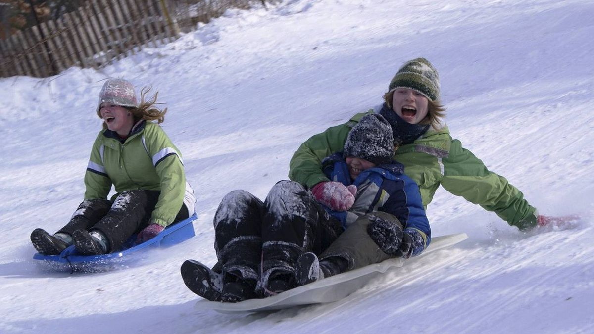 Chris Hills photo: Cousins on the hill! - Enjoying Winter to the utmost! January 30/11 at the Pinery Park.