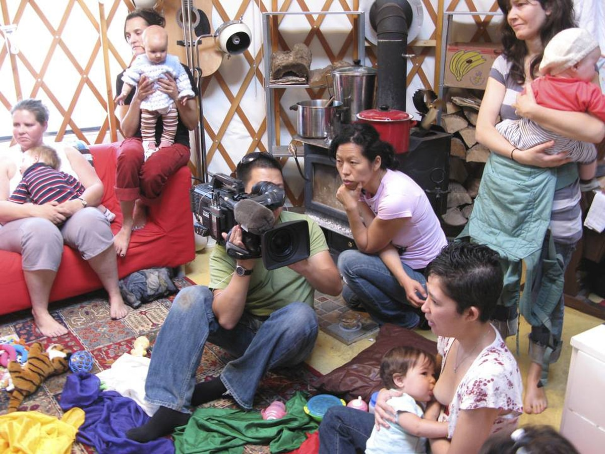 After her daughter's birth, documentarian Min Sook Lee, centre right, began to investigate how chemically saturated we are.