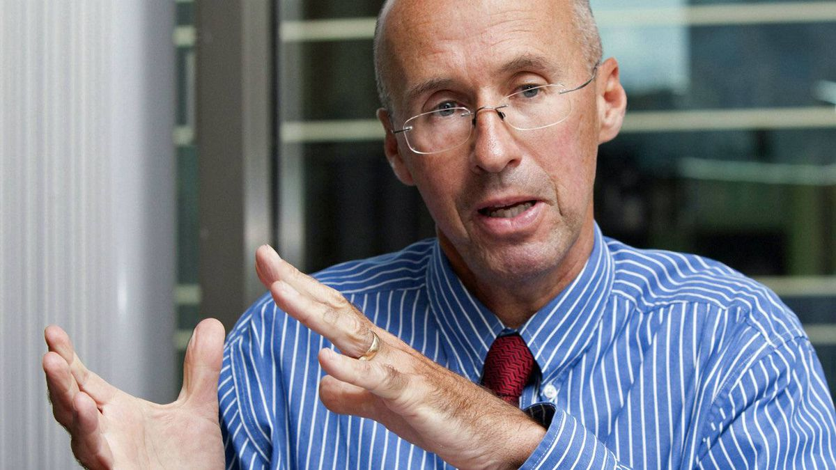 Parliamentary budget officer Kevin Page speaks during an interview at his Ottawa office on Aug. 9, 2010.