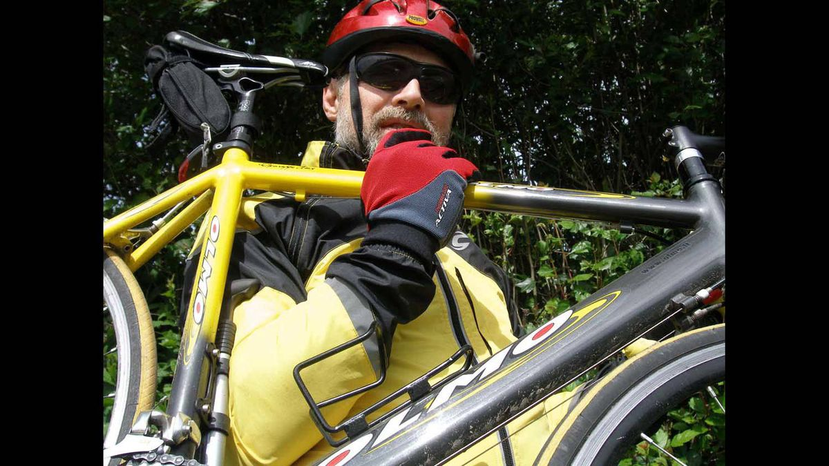 Vancouver Island, circa 2008, Olmo'st ready to ride.