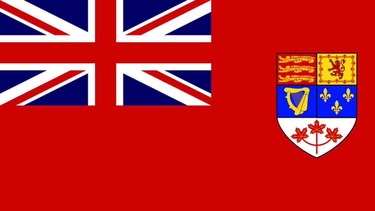The Canadian Red Ensign was replaced by the Maple Leaf in 1965.