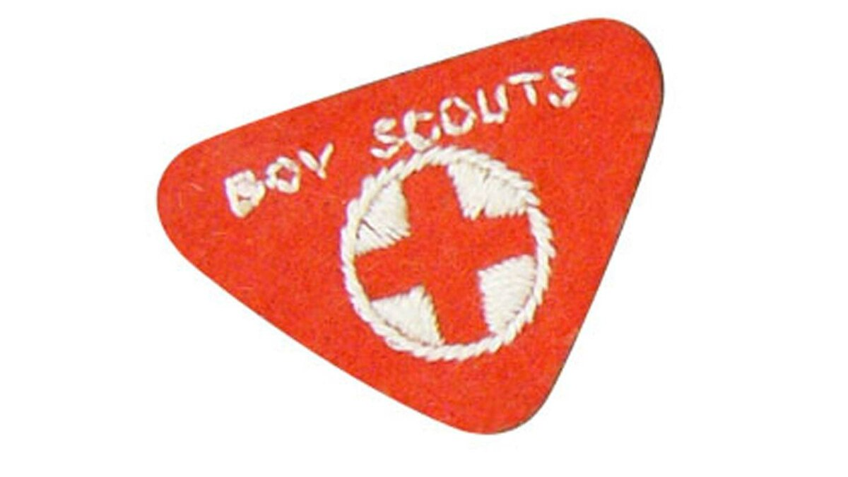A Boy Scout badge is pictured in this undated photo.