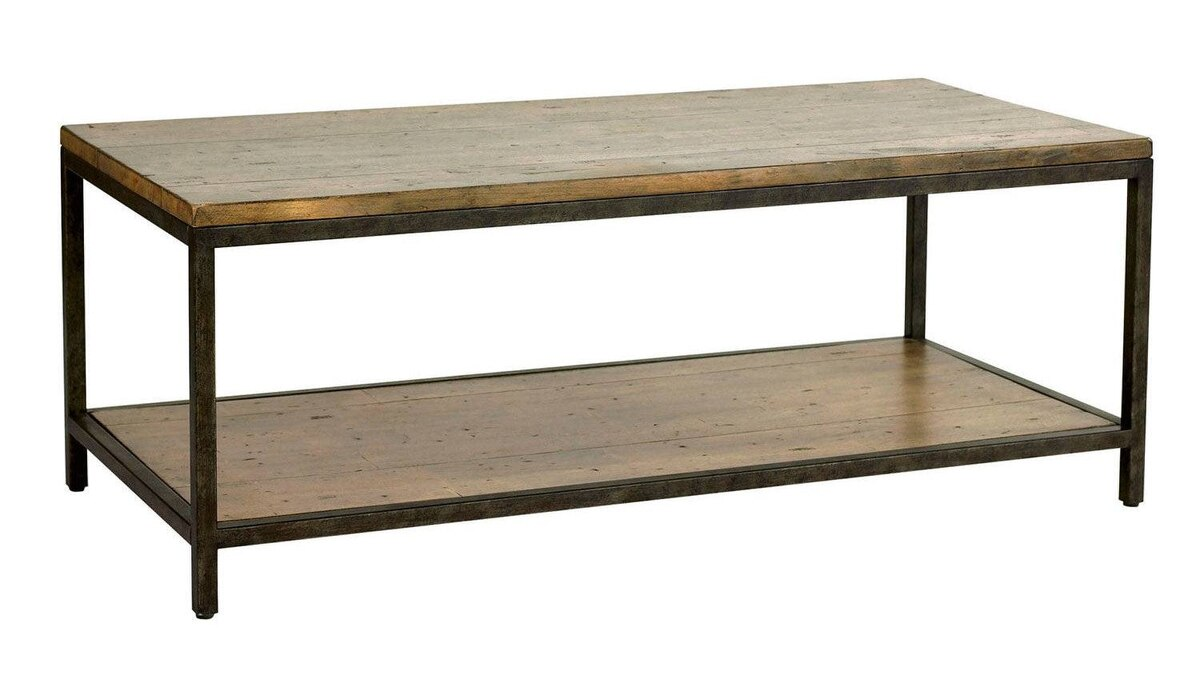 Inspired by a vintage bricklayer's table, Ballard Designs' Durham Cocktail Table combines heavily distressed planked hardwood with an aged steel-finish frame. $349 (U.S.) through www.ballarddesigns.com.