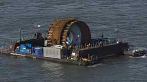 The first commercial in-stream tidal turbine in the Bay of Fundy near Parrsboro, N.S. on Thursday, Nov. 12, 2009. Nova Scotia Power and their tidal technology partner, OpenHydro, placed the turbine on the ocean floor to be powered by the force of the tides to produce energy.