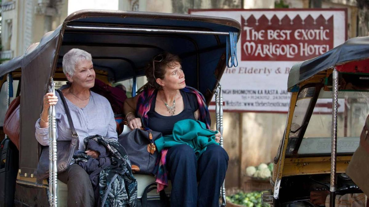 "Judi Dench (left) and Celia Imrie in a scene from ""The Best Exotic Marigold Hotel"""
