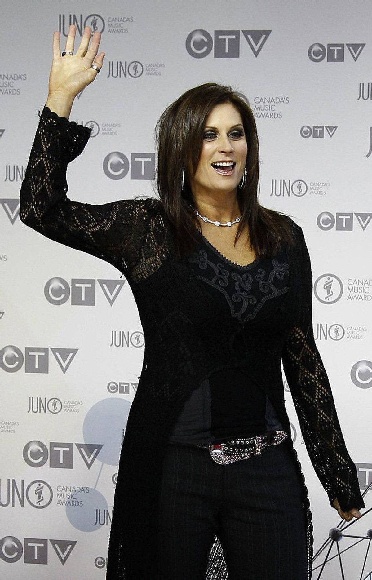Recording artist Terri Clark arrives on the red carpet during the 41st Juno Awards in Ottawa April 1, 2012.