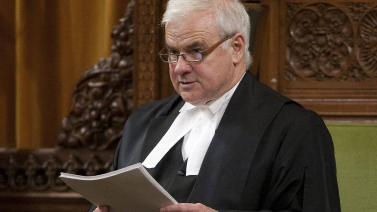 Speaker of the House of Commons Peter Milliken delivers his ruling on the Harper government's refusal to hand over documents on Afghan detainees.