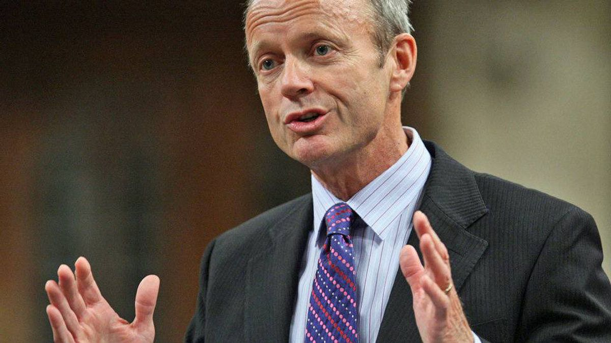 Treasury Board President Stockwell Day responds during Question Period in the House of Commons on Sept. 21, 2010.