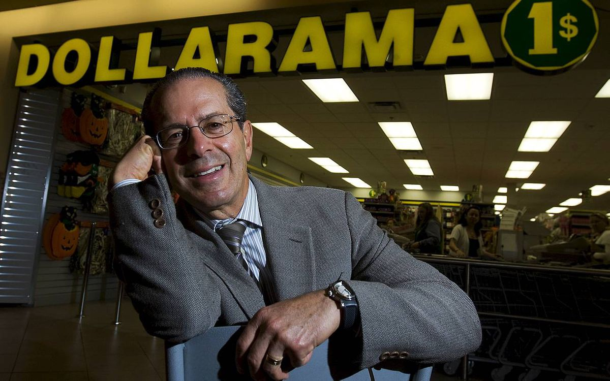September 17, 2008-- Larry Rossy, CEO of Dollarama poses in his Cote Vertu store in Montreal, September 17, 2008. For Business. Globe and Mail/Christinne Muschi