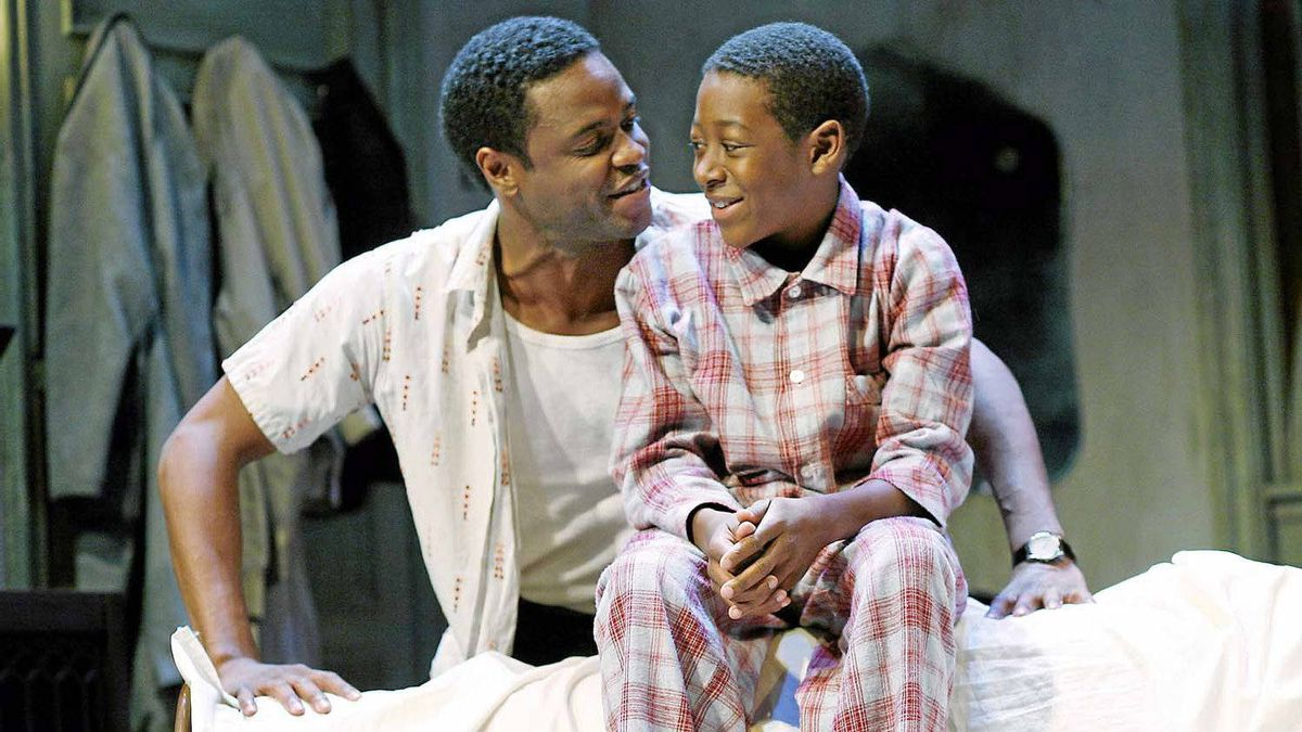 """Charles Officer and Kofi Payton in Soulpepper's """"A Raisin in the Sun""""."""