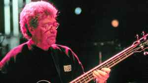 Donald (Duck) Dunn performing at Neil Young's Bridge Benefit 2000. on October 29th, 2000, Mountain View, Calif.