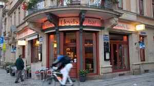 Lloyd's Bar in the Outer Neustadt Neighbourhood, Dresden, Germany.