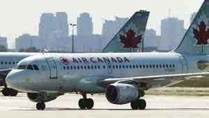 An Air Canada airplane seen at Toronto Pearson International Airport, September 20, 2011.