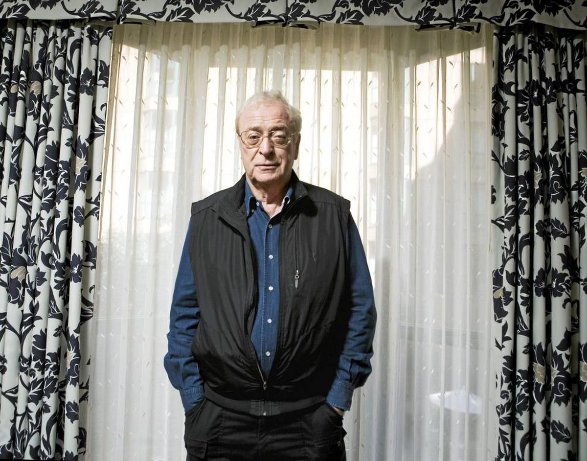 Michael Caine poses for a photo in Toronto during the Toronto International Film Festival on September 12, 2009.