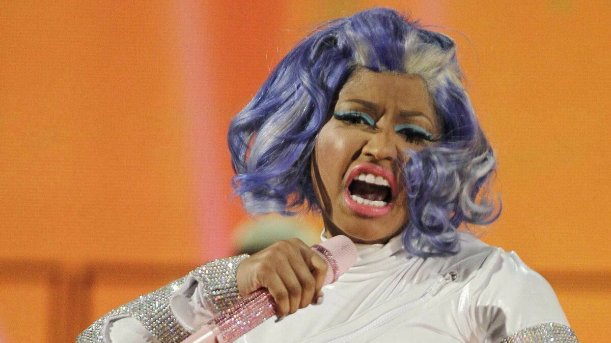 Singer Nicki Minaj performs before the NBA All-Star basketball game, Sunday, Feb. 26, 2012, in Orlando, Fla.