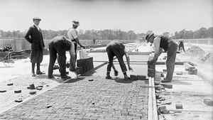 The Don track section of the Prince Edward Viaduct (better known as the Bloor Viaduct) was under construction July 31, 1918.