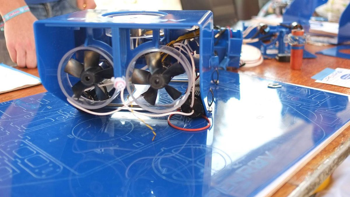 The OpenROV unit can reach depths of up to 100 metres, and uses a cheap webcam and tiny onboard computer to explore places that are otherwise too dirty, dull dangerous, or distant for traditional divers. Raw materials cost about $450 to build at home, but pre-made kits will sell for $750 on the company's web site soon.