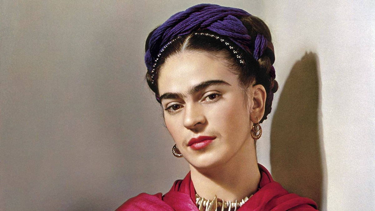 Frida Kahlo poses in for the photographer Nickolas Muray at an undisclosed location in 1939.