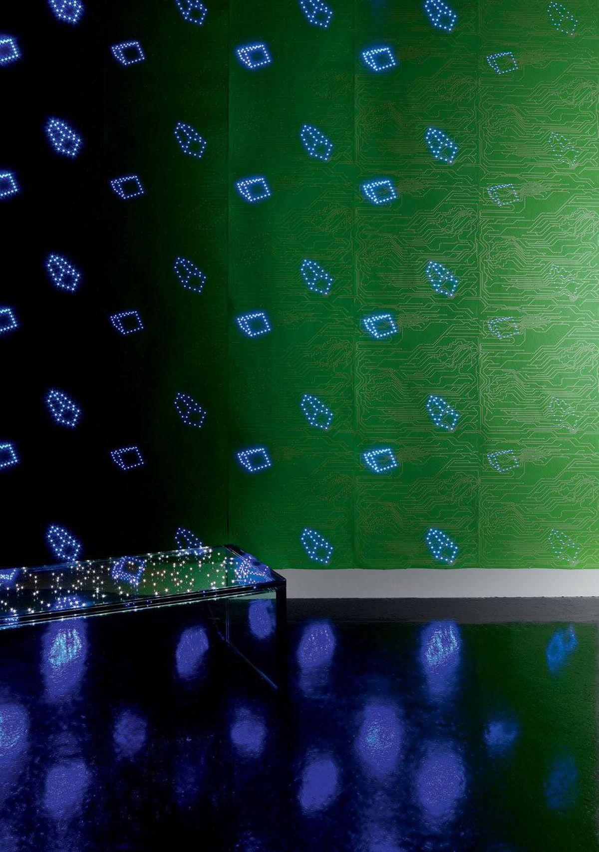 Ingo Maurer?s LED wallpaper