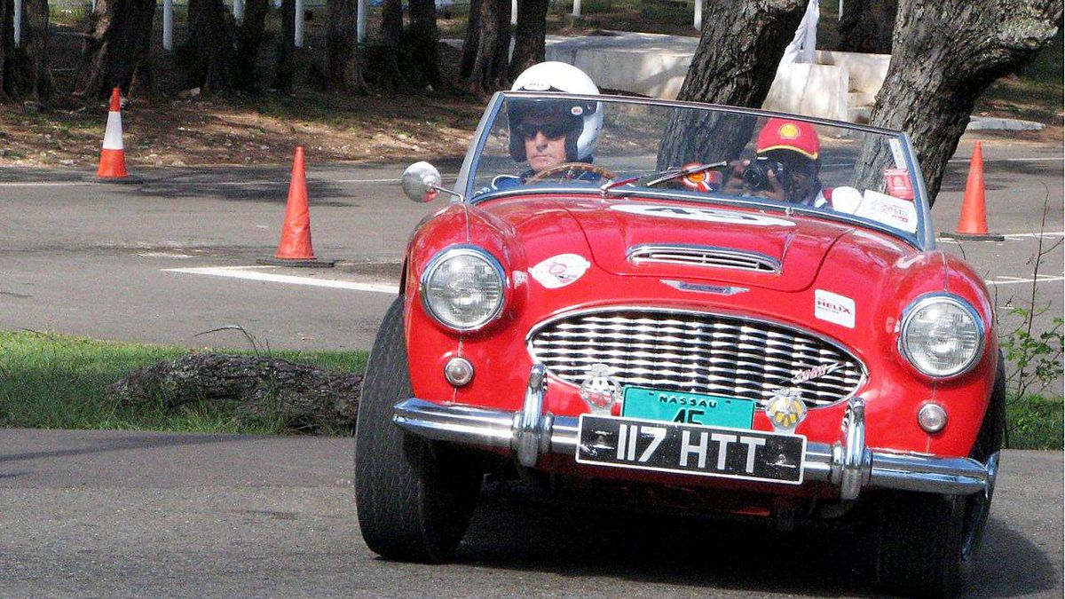 Another classic British sports car from the 50s and 60s that saw action during the week was this Austin-Healey 3000. These big powerful cars were stalwarts of the racing and rallying scene during their heyday.