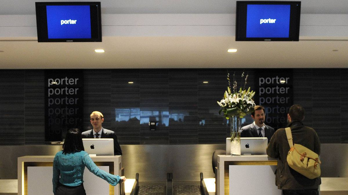 Porter Airlines will post its first annual profit this year.