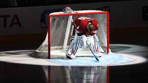 Goaltender Ilya Bryzgalov #30 of the Phoenix Coyotes is introduced before the NHL game against the Detroit Red Wings at Jobing.com Arena on March 5, 2011 in Glendale, Arizona. The Coyotes defeated the Red Wings 5-4 in an overtime shoot out. (Photo by Christian Petersen/Getty Images)