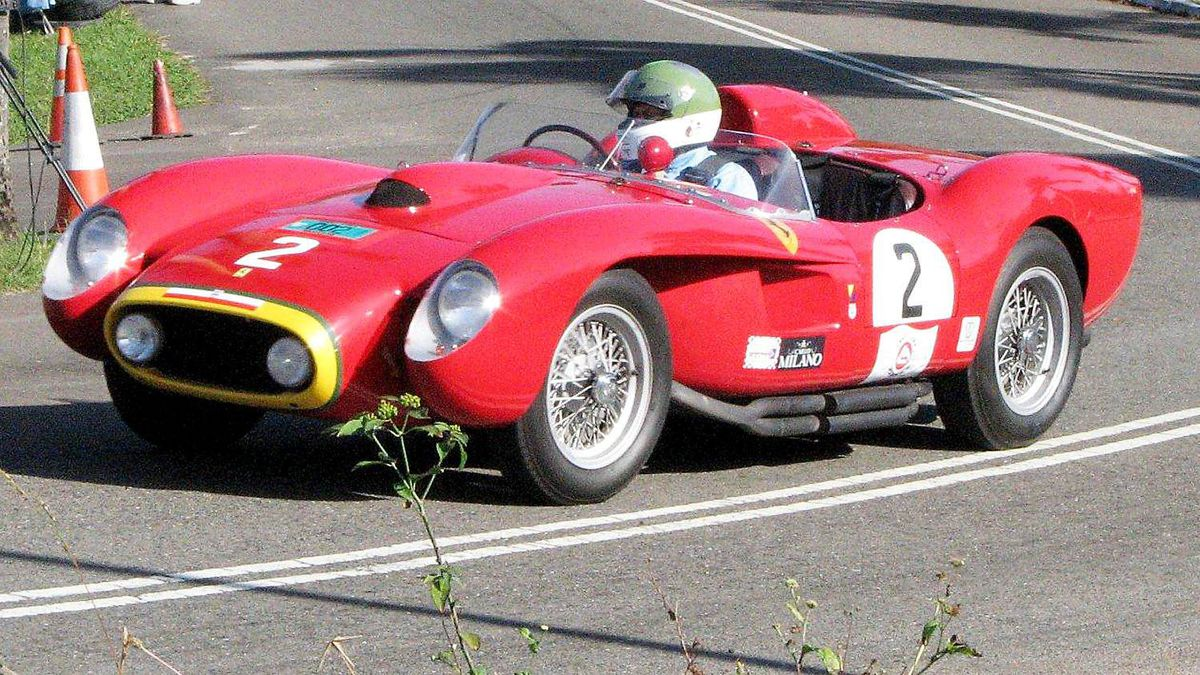 The most exotic period racer to take part in the Speed Week revival was this 3.0 litre V-12 engined, 1957 Ferrari Testa Rossa that's worth likely $10-million plus. Cars like it were driven on the island by Phil Hill and Pedro Rodriguez back in the day.